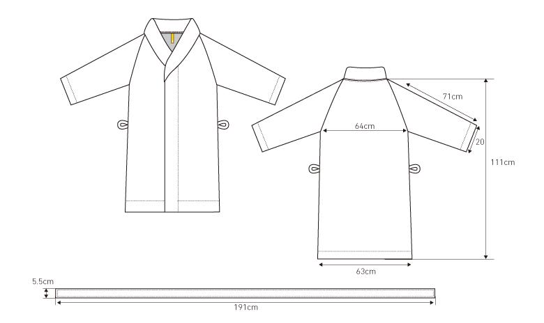オーガニック120 バスローブサイズ