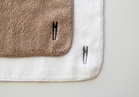 タオルハンカチハサミ刺繍ナチュラル